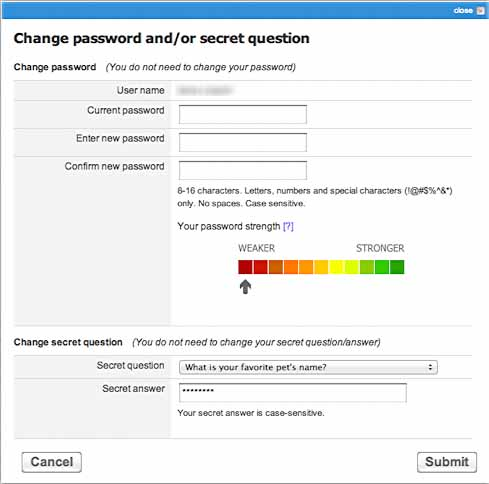 comcast reset password