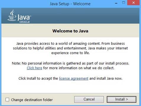 update javasript