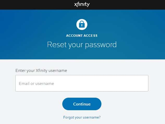 xfinity email and password